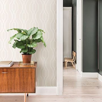 Picture of Coventry Eggshell Trellis Wallpaper