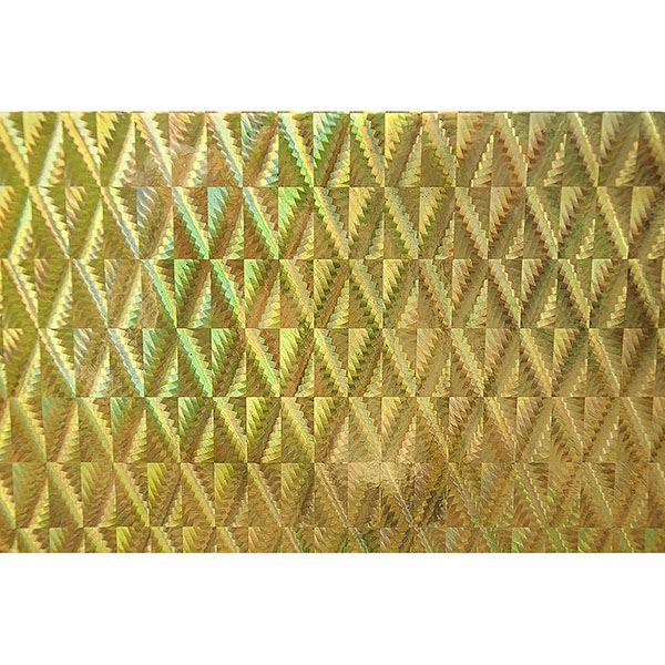 Picture of Holographic Gold Diamond Adhesive Film