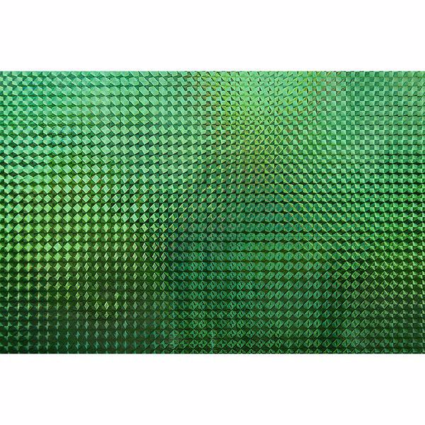 Picture of Holographic Green Mosaic Adhesive Film