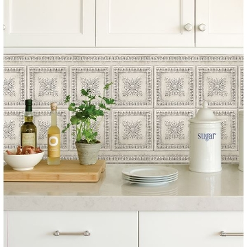 Vintage Tin Peel and Stick Backsplash