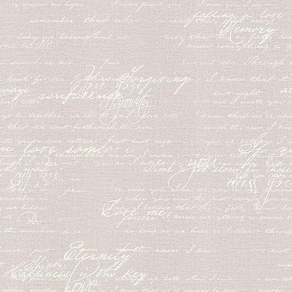 Picture of Nouvel Light Grey Script Wallpaper