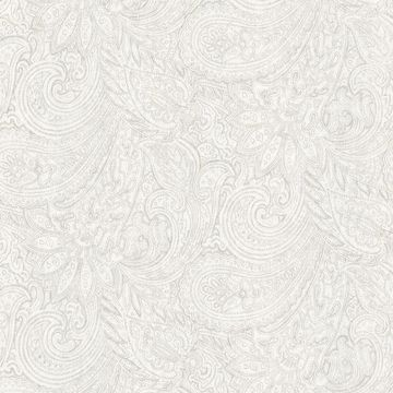 Picture of Lula Light Grey Paisley Wallpaper