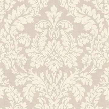Picture of Honor Beige Damask Wallpaper