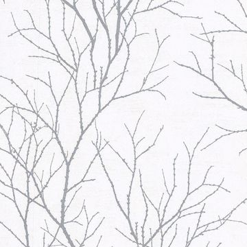 Picture of Zola Grey Tree Branch Wallpaper