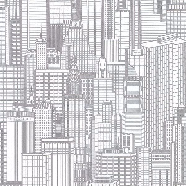 Picture of Aston Silver City Wallpaper
