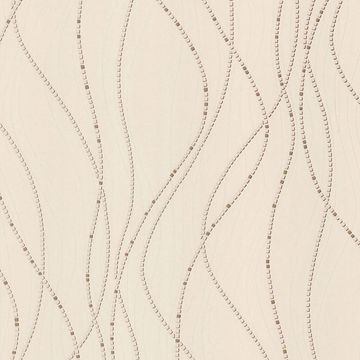 Picture of Onyx Beige Dotted Lines Wallpaper
