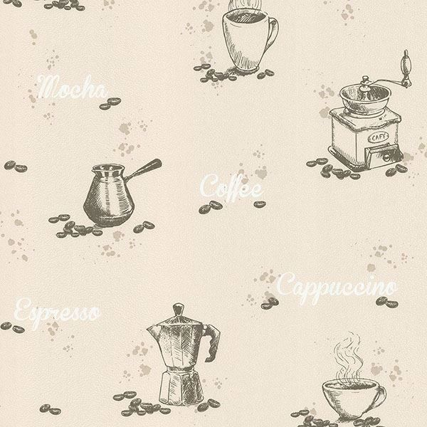 Picture of Nell Beige Coffee Wallpaper