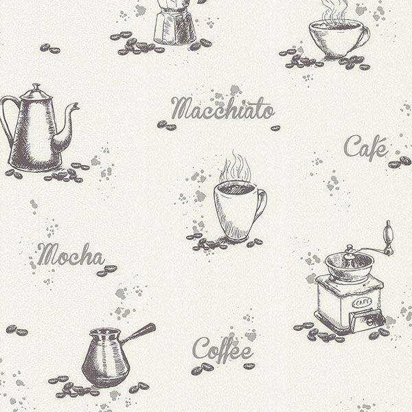 Picture of Nell Ivory Coffee Wallpaper