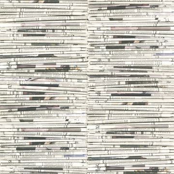 Picture of Marley White Newspaper Wallpaper