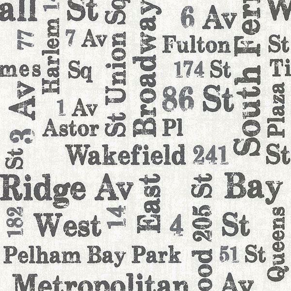 Picture of Ellis Black Typography Wallpaper