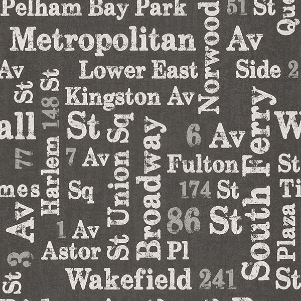 Picture of Ellis Charcoal Typography Wallpaper