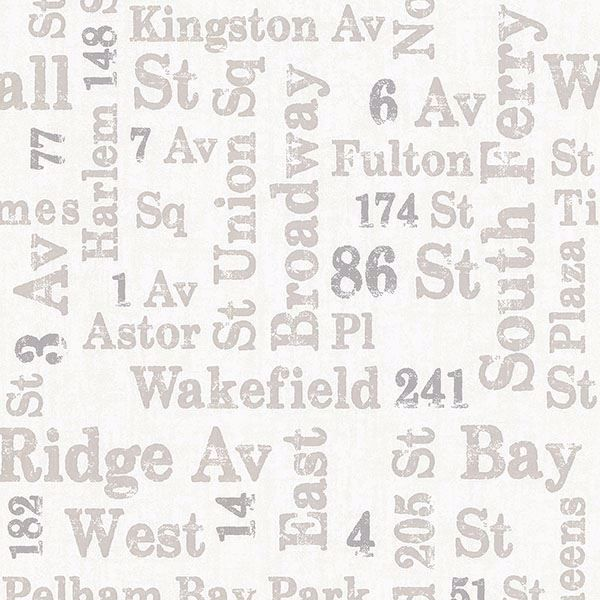 Picture of Ellis Taupe Typography Wallpaper