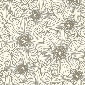 Picture of Vivienne Taupe Floral Wallpaper