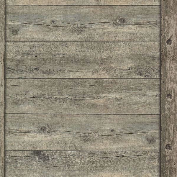 Picture of Absaroka Brown Shiplap Wallpaper