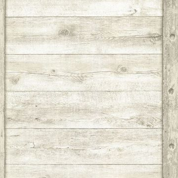Picture of Absaroka Off-White Shiplap Wallpaper