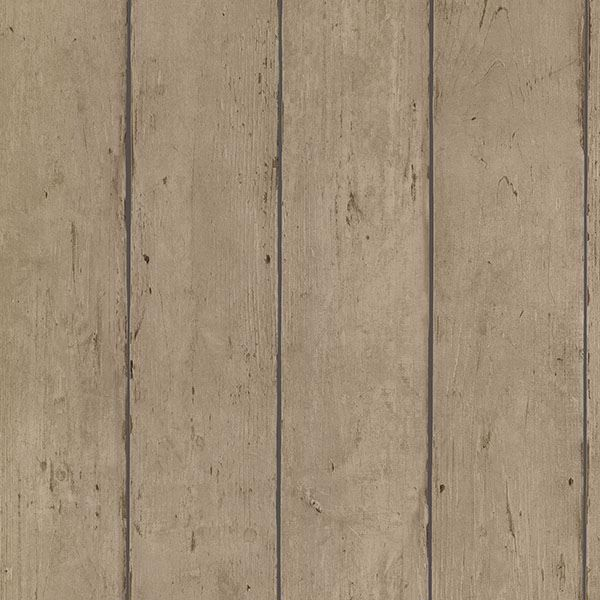 Picture of Teton Light Brown Wide Wood Plank Wallpaper