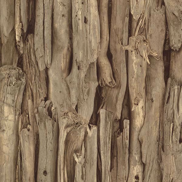 Picture of Olympic Brown Driftwood Wallpaper