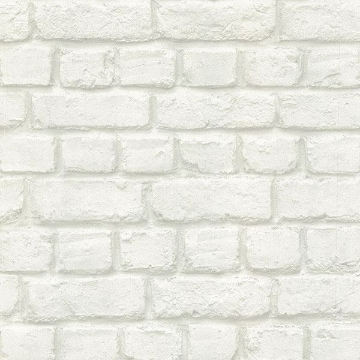 Picture of Chugach White Whitewashed Brick Wallpaper