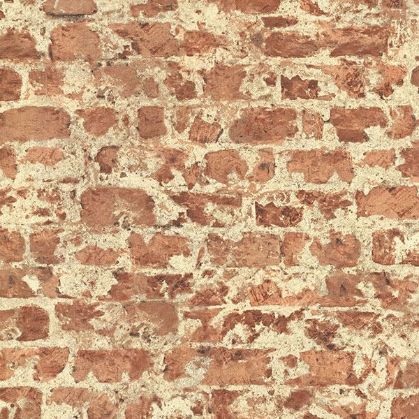 Picture of Fairweather Red Distressed Brick Wallpaper