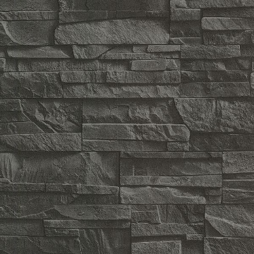 Picture of Collegiate Charcoal Stacked Slate Wallpaper