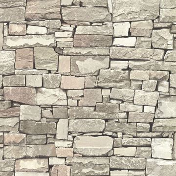 Picture of Wrangell Beige Stacked Slate Wallpaper