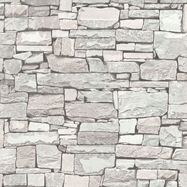 Picture of Wrangell Cream Stacked Slate Wallpaper