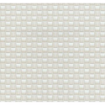 Picture of Chet Champagne Tile Texture Wallpaper