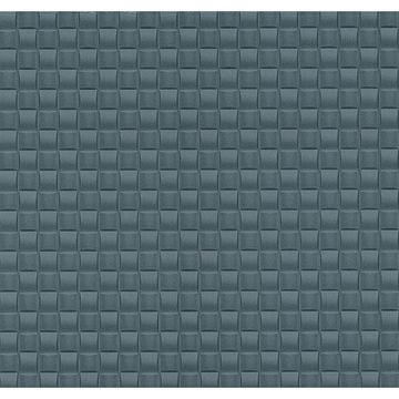 Picture of Chet Blue Tile Texture Wallpaper