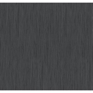 Picture of Ellington Black Horizonal Striped Texture Wallpaper
