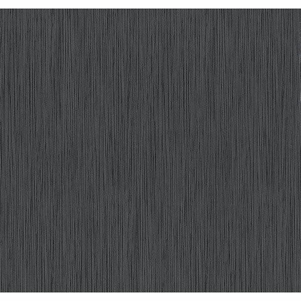 Picture of Ellington Black Horizonal Striped Texture Wallpaper