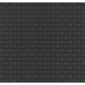 Picture of Chet Charcoal Tile Texture Wallpaper