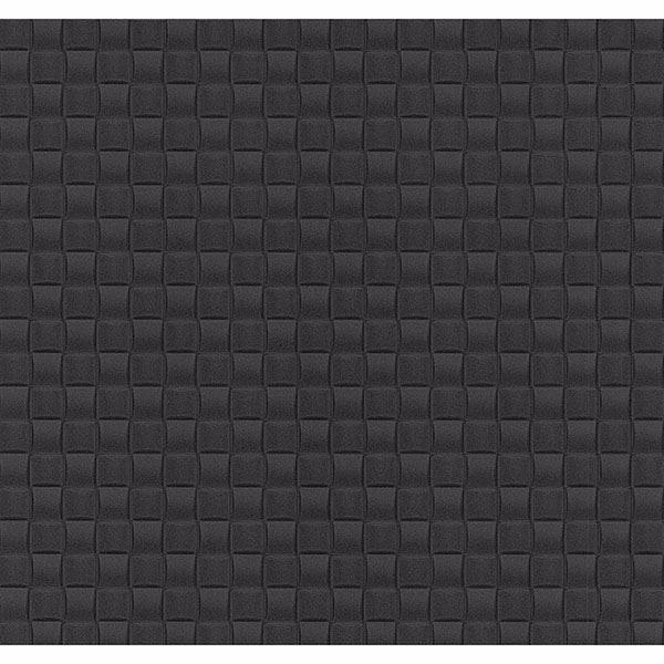 Chet Charcoal Tile Texture Wallpaper
