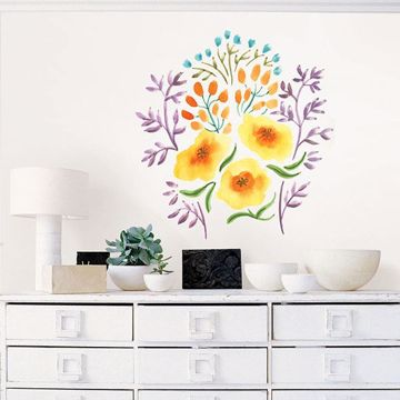 Picture of May Day Bouquet Wall Art Kit