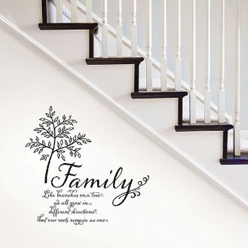 Picture of Family Tree Wall Quote Decals