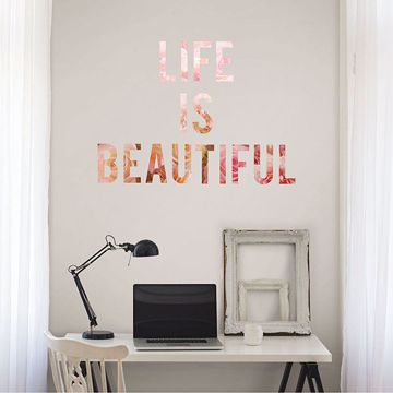 Picture of Coming Up Roses Wall Quote Decals