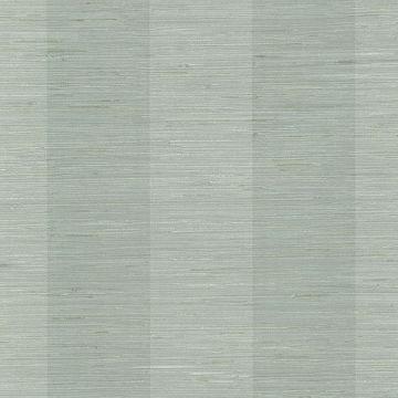 Picture of Pasadena Aqua Grasscloth Stripe Wallpaper