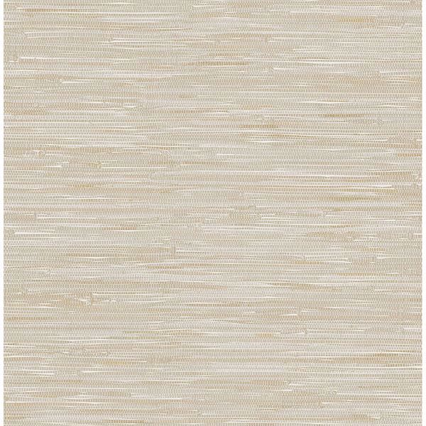Picture of Maytal Neutral Faux Grasscloth Wallpaper