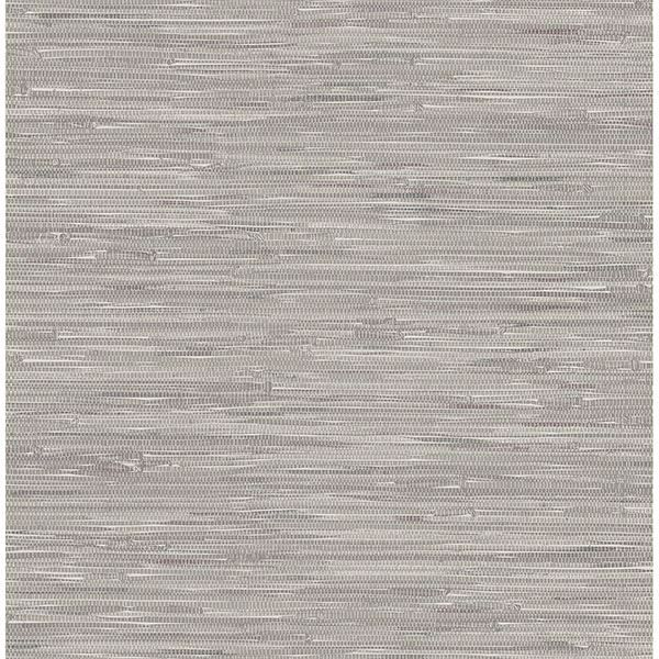 Picture of Maytal Grey Faux Grasscloth Wallpaper