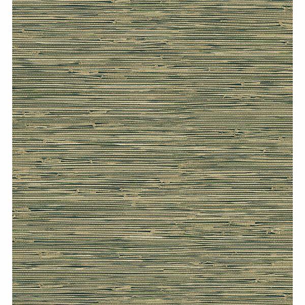 Picture of Cate Black Vinyl Grasscloth Wallpaper