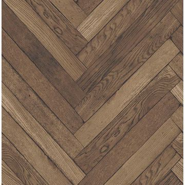 Picture of Altadena Brown Diagonal Wood Wallpaper