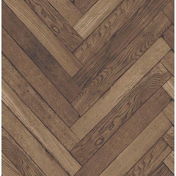 Picture of Altadena Brown Diagonal Wood Wallpaper