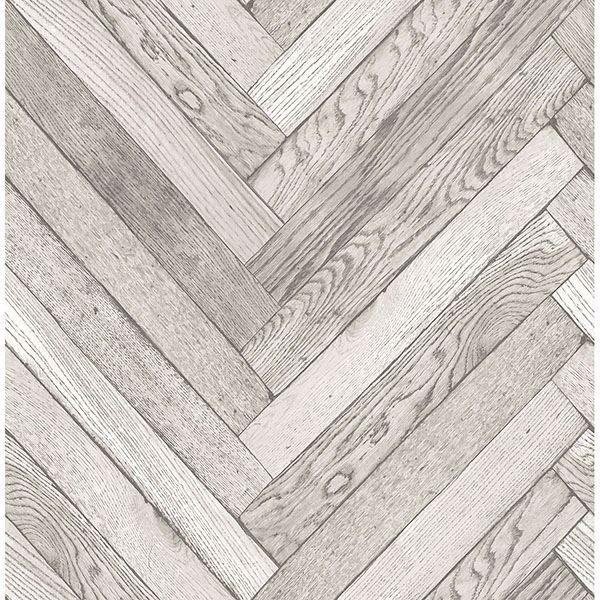 Picture of Altadena Light Grey Diagonal Wood Wallpaper