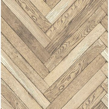 Picture of Altadena Light Brown Diagonal Wood Wallpaper