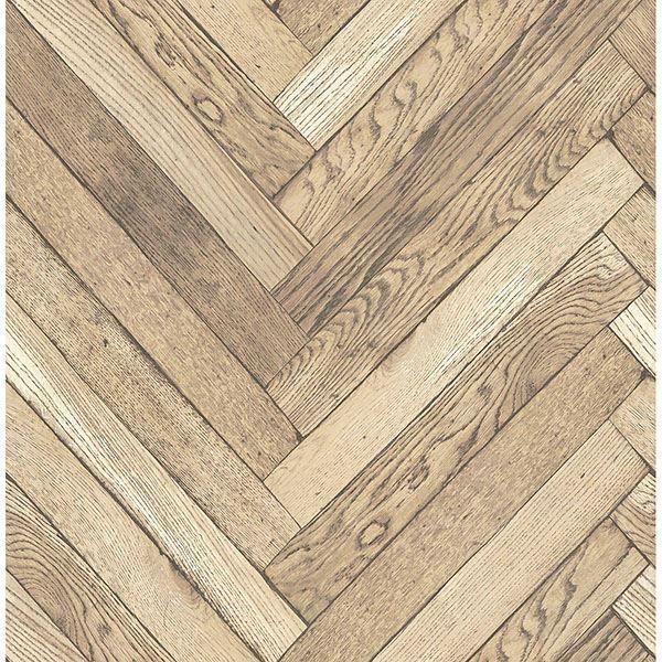 Picture of Altadena Light Brown Diagonal Wood Wallpaper