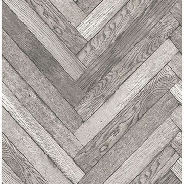 Picture of Altadena Grey Diagonal Wood Wallpaper
