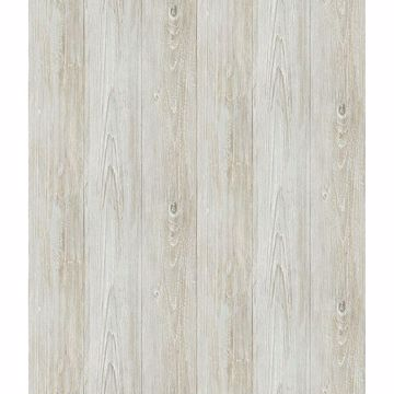 Picture of Thatcher Light Grey Wood Wallpaper