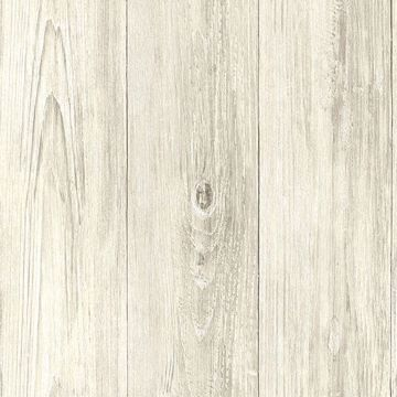 Picture of Thatcher Cream Wood Wallpaper