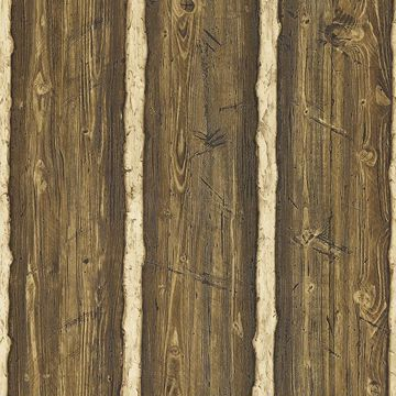 Picture of Hodgenville Brown Pine Wood Wallpaper
