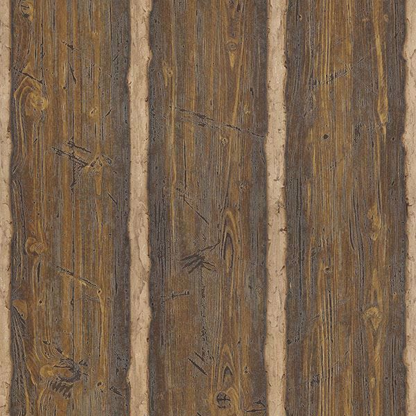 Picture of Hodgenville Brown Wood Paneling Wallpaper