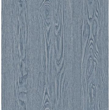 Picture of Remi Blue Wood Wallpaper